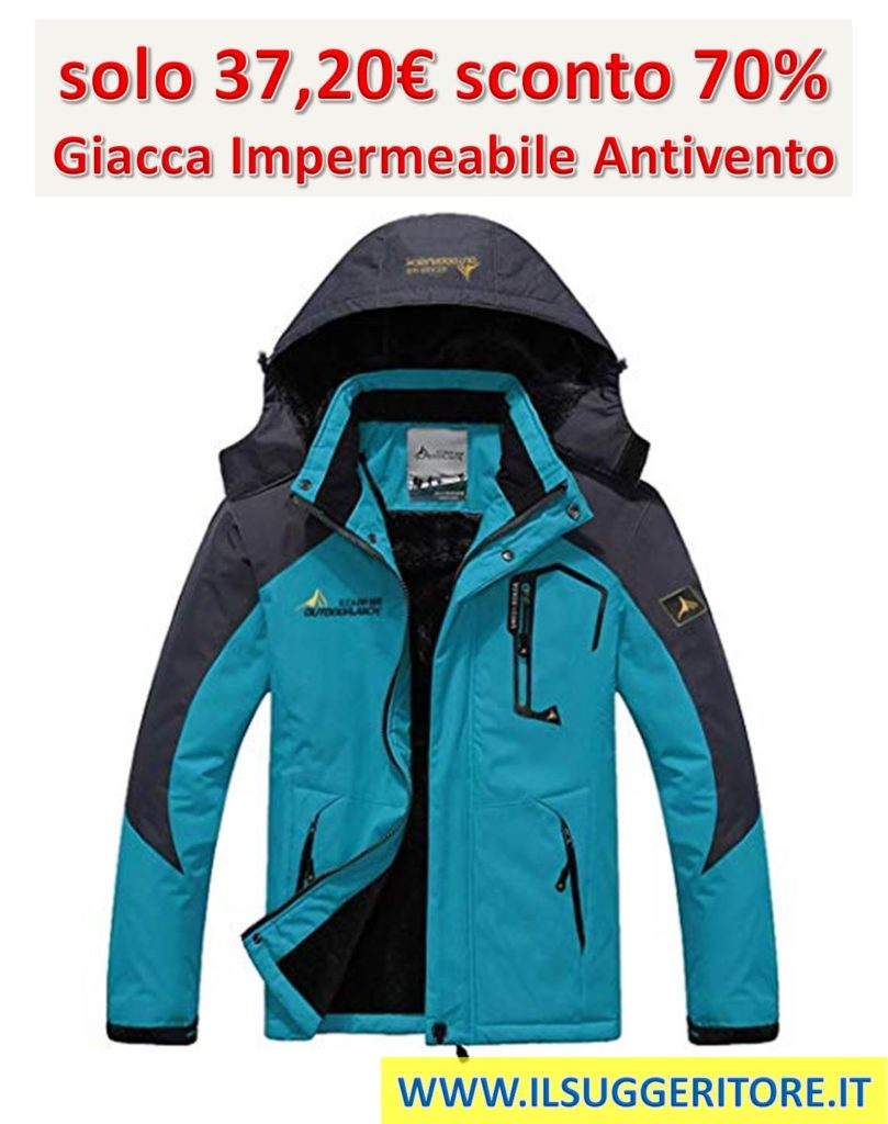 new concept 74a38 737e9 Giacca Impermeabile Antivento - COUPON SEGRETO SCONTO 70 ...