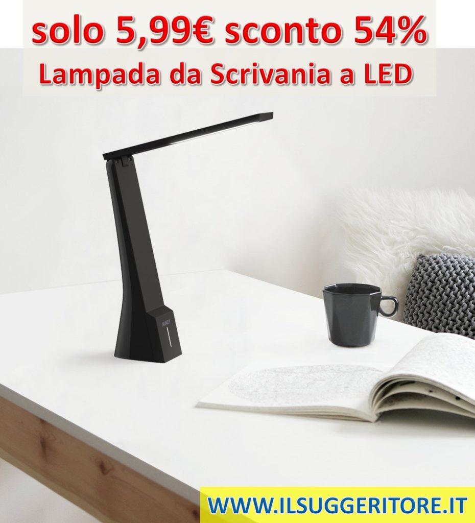 AUKEY  Lampada da Scrivania LED, Lampada da Tavolo Portatile con Batteria  Incorporata, Touch Control con 3 Livelli di Luminosità e 3 Temperature,  Ricaricabile con USB per Studio, Camera, Ufficio