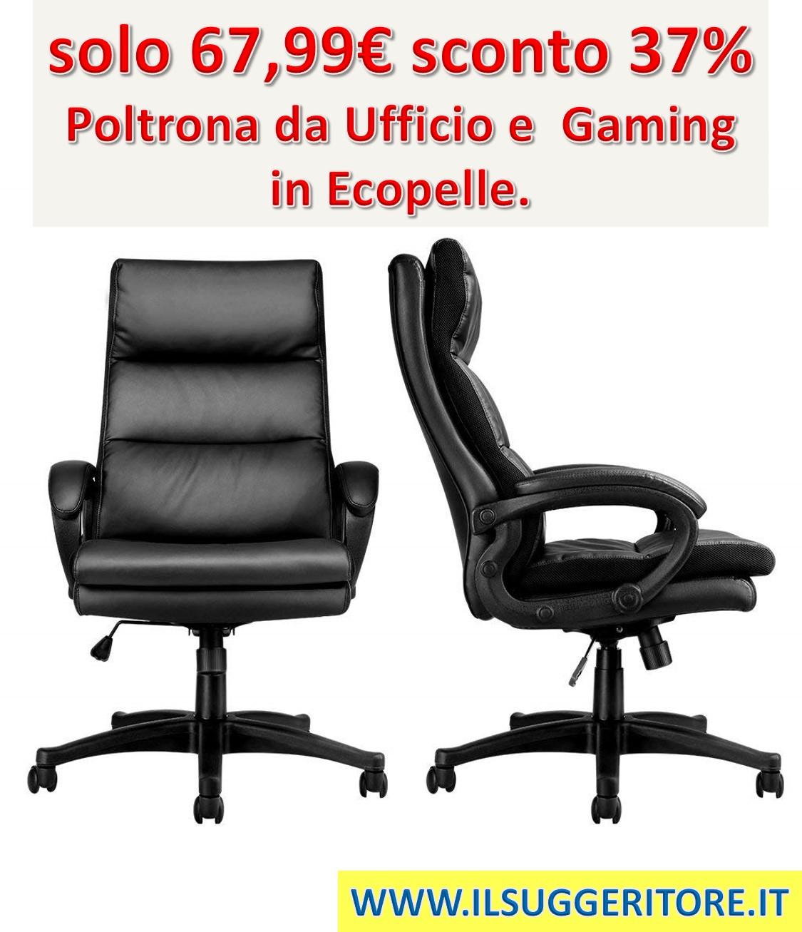 Sedie Ufficio In Offerta.Poltrona Da Ufficio E Gaming In Ecopelle Coupon Segreto Sconto 37 Il Suggeritore