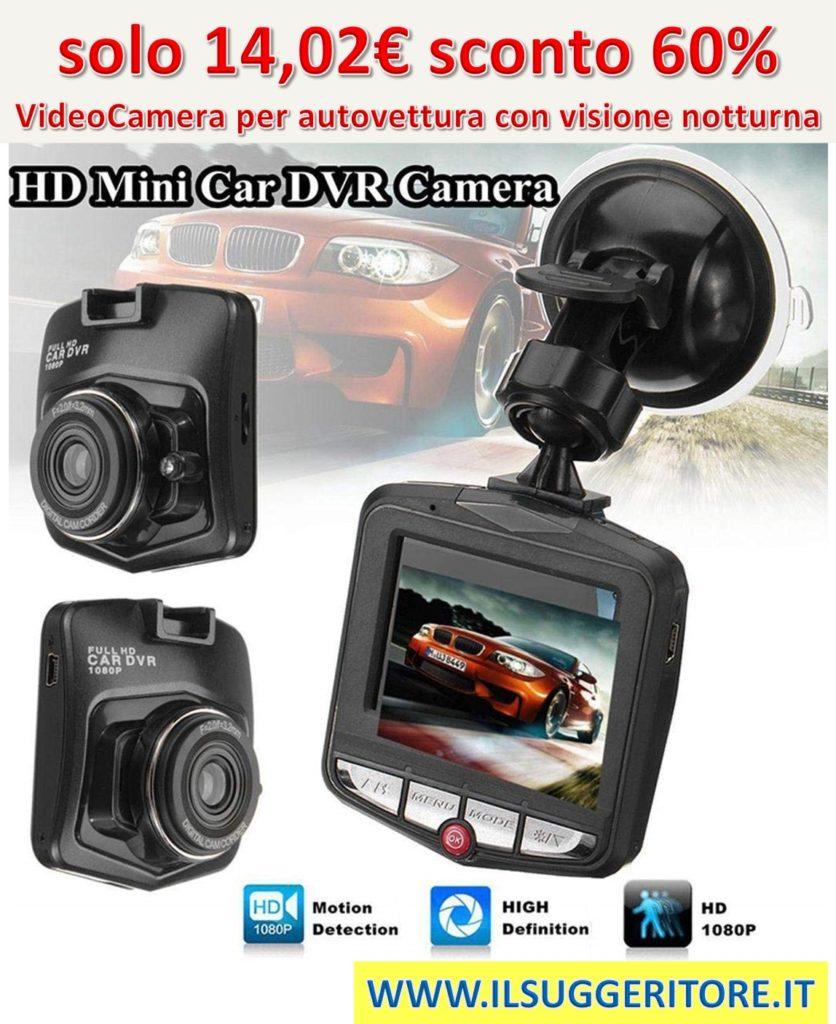 Kisshes G-Sensor di Visione Notturna di HD 1080P Auto DVR Mini Car Camera Digital Video Recorder Telecamera Posteriore