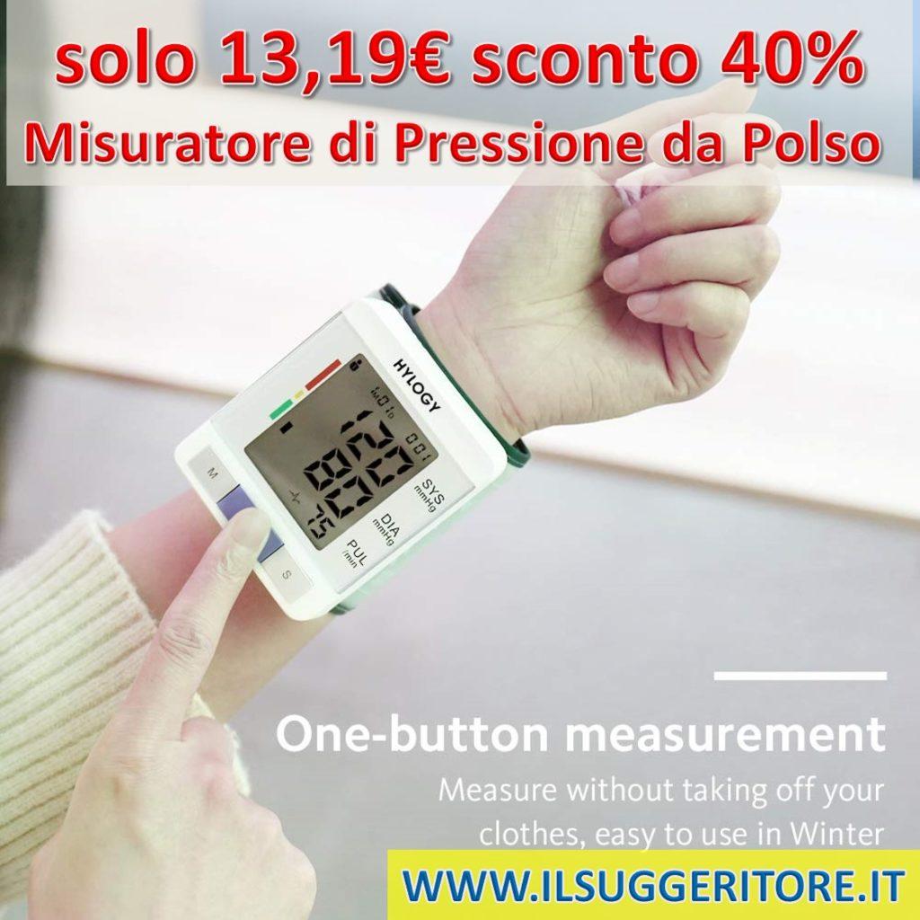 HYLOGY, Misuratore di Pressione da Polso, Sfigmomanometro da Polso Professionale e Pulsazione Rilevazione Digitale Automatico,180 Memorie di Misura per 2 Utenti, Certifica CE/FDA