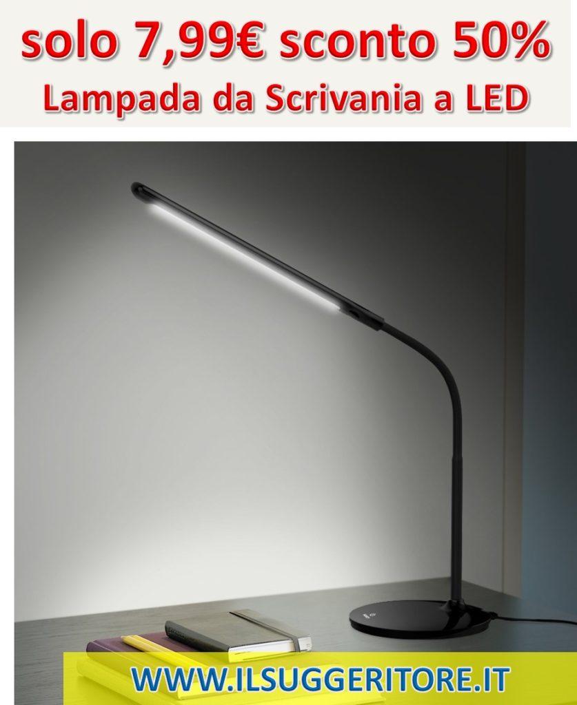 AUKEY Lampada da Scrivania a LED 6W, Lampada da Lettura con 3 Livelli di Luminosità, Controllo Touch e Protezione degli Occhi, Angolo Regolabile e Collo Flessibile (Nera, LT-ST1)