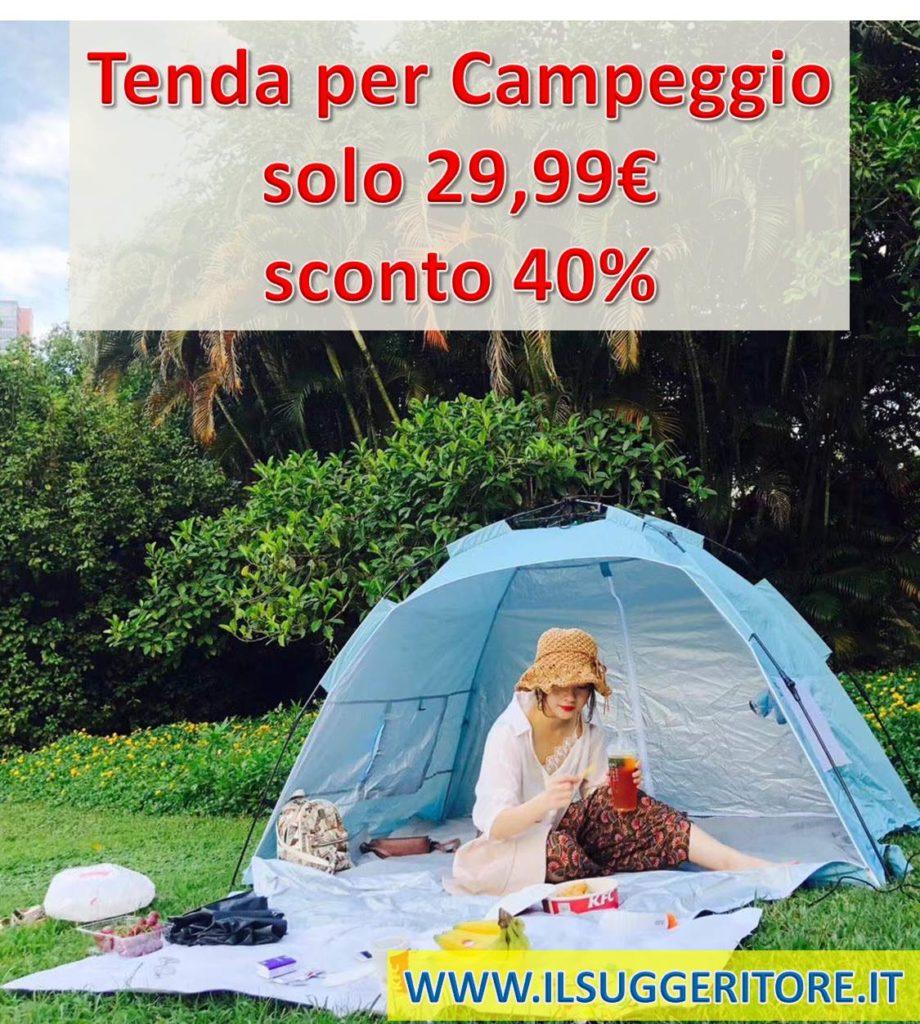 Homfu Tenda Casetta per Bambini e Bambine per Campeggio Esterno Tenda Giocattolo per Bambini con (Beach Blue)