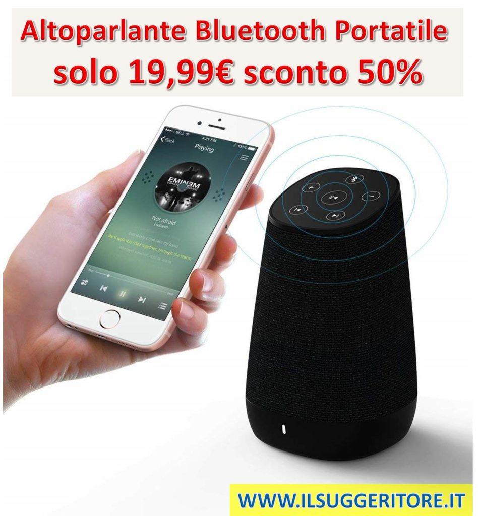 COWIN DIDA, Altoparlante Bluetooth Portatile, Altoparlante Wireless, Diffusore Bluetooth con HD Stereo, Pulsanti Touch, Bassi Potenziati, Doppio driver, per Iphone,Android,iPad,Tablet,PC,Viaggi
