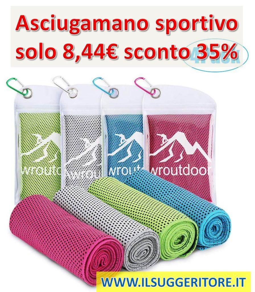 Awroutdoor,  Asciugamano Raffreddamento, istantaneo Freddo Ghiaccio Asciugamano, Sportivo Asciugatura Rapida, Gym Sciarpa Towel ,per l'escursione Golf Corsa Yoga.