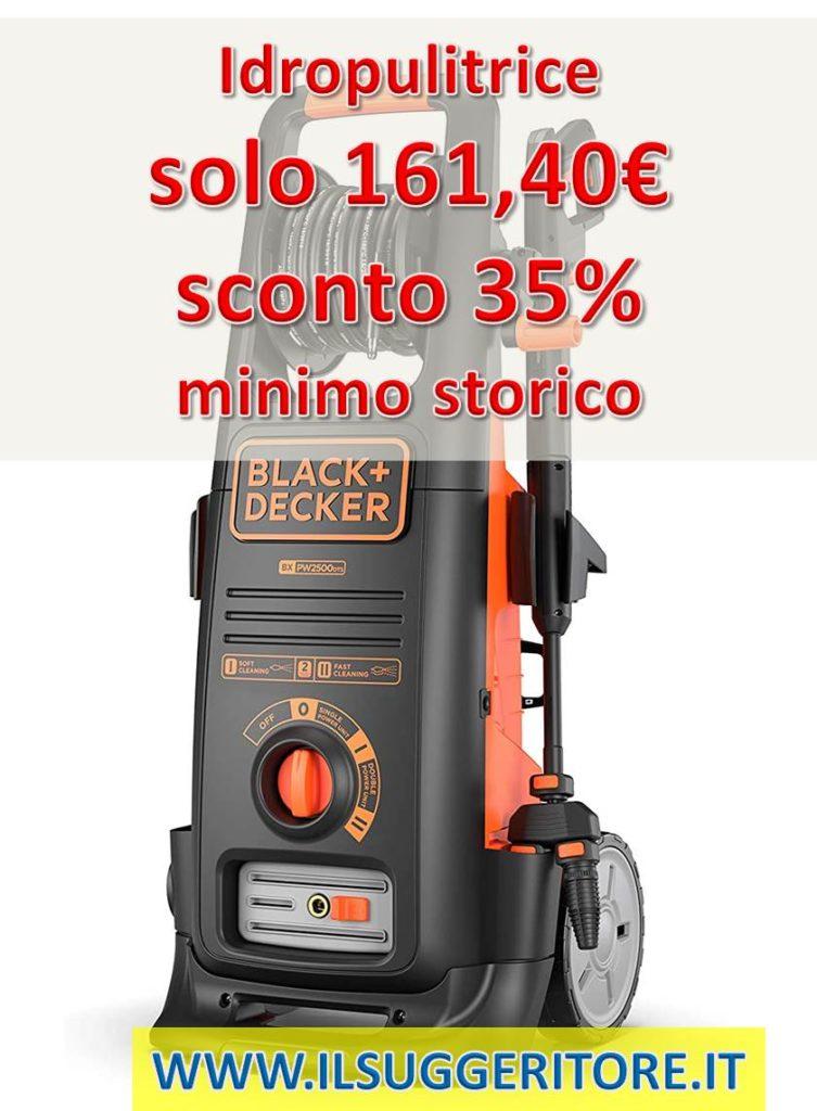 Black & Decker BXPW2500DTS Idropulitrice ad Alta Pressione con Dualtech System (2500 W, 150 Bar, 810 l/h)